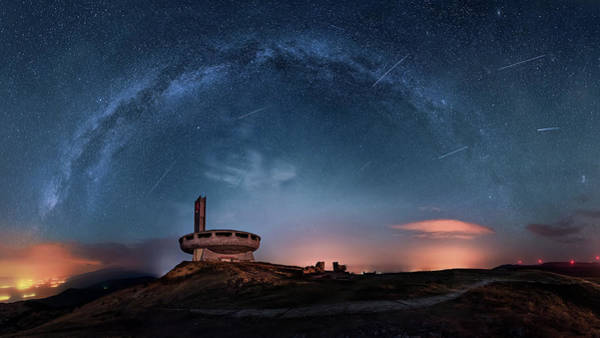 Exploration Wall Art - Photograph - Perseids Over Buzludzha by Ruslan Asanov