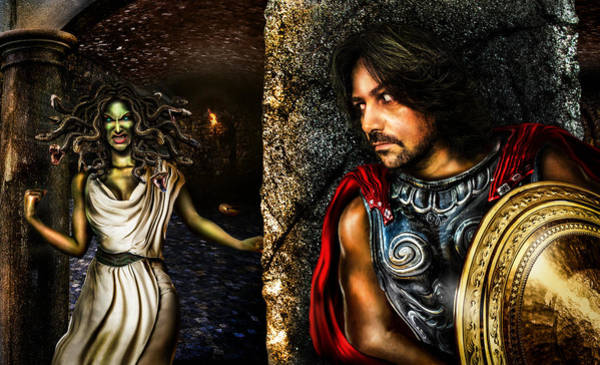 Cloak Digital Art - Perseus And Medusa by Alessandro Della Pietra