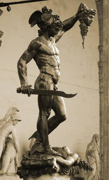 Perseus With The Head Of Medusa Art Print