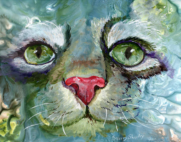 Painting - Persian Green by Sherry Shipley