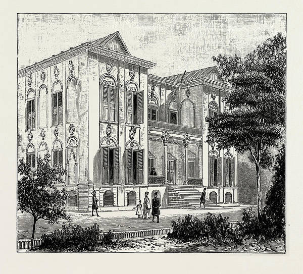 Wall Art - Drawing - Persian House, New Style by Litz Collection