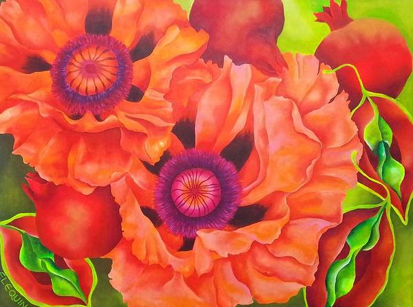 Wall Art - Painting - Persimmon by Elizabeth Elequin