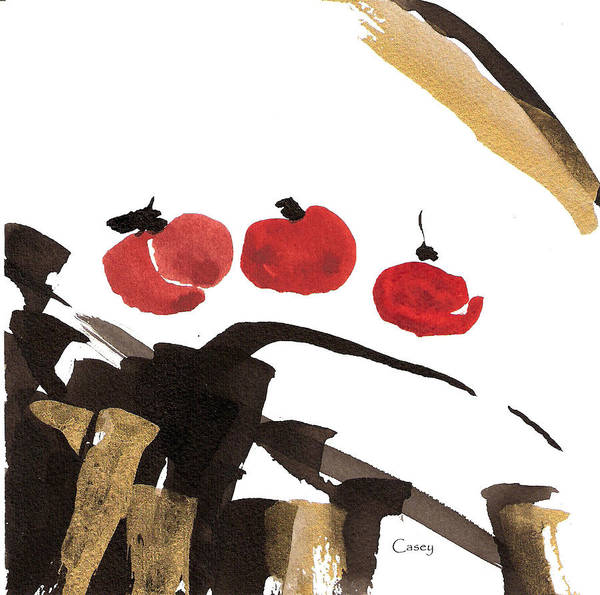 Persimmon Painting - Persimmon Three by Casey Shannon