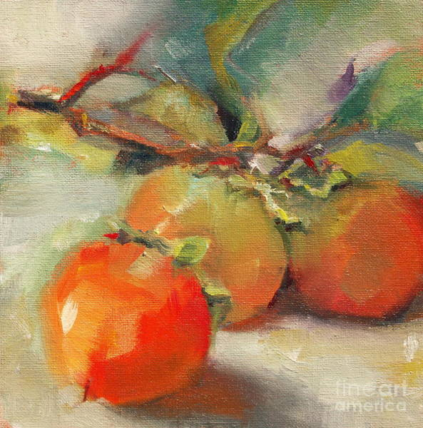 Painting - Persimmons by Michelle Abrams