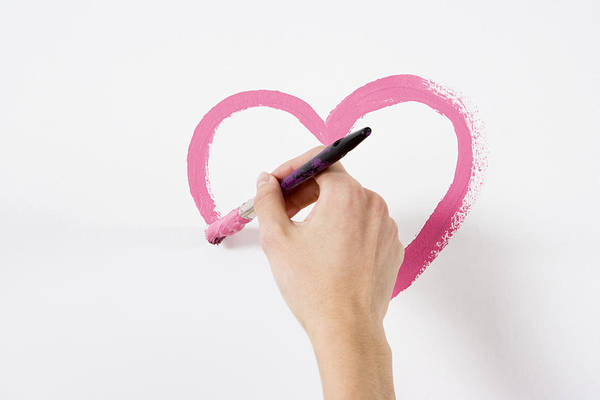 Person Painting A Heart Art Print by Image Source