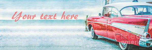 Chevrolet Bel Air Photograph - Free Personalized Custom Beach Art by Edward Fielding