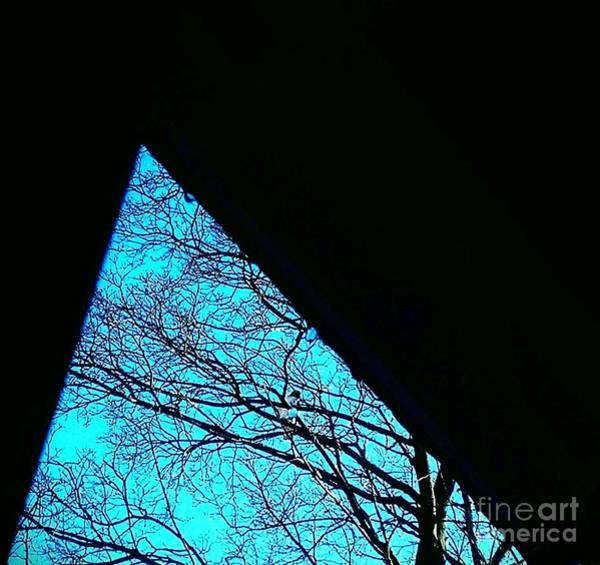 Blue Triangle Art Print