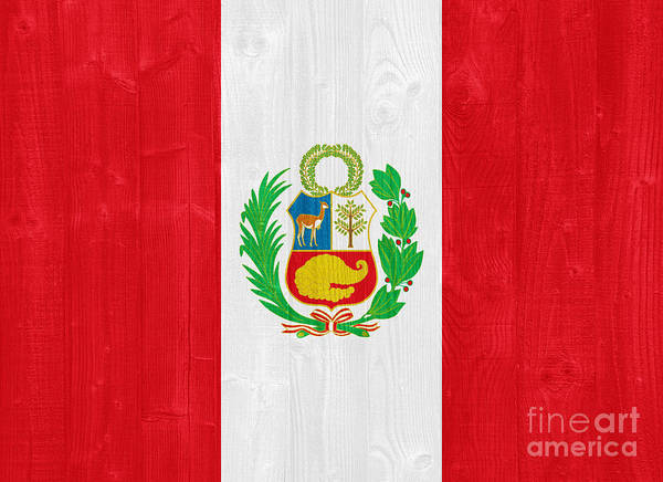 Wall Art - Photograph - Peru Flag by Luis Alvarenga