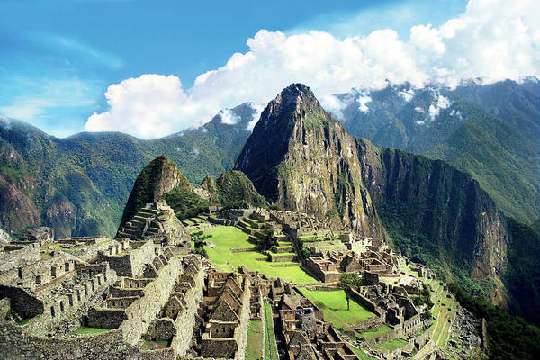 Ancient America Photograph - Peru, Machu Picchu, The Lost City by Miva Stock