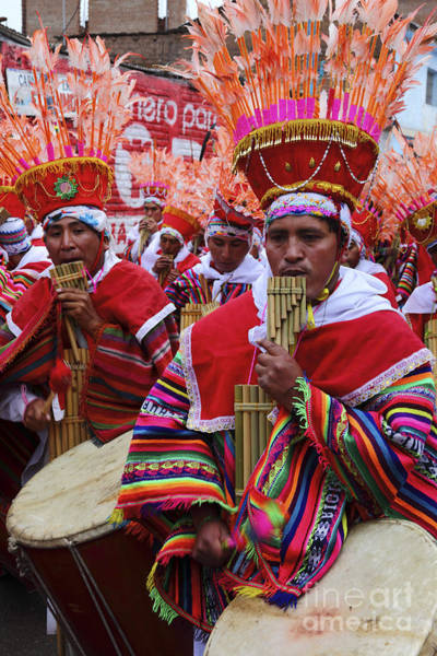 Photograph - Peruvian Panpipe Musicians by James Brunker