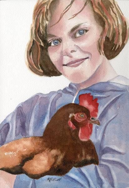 Wall Art - Painting - Pet Chicken by Marsha Elliott