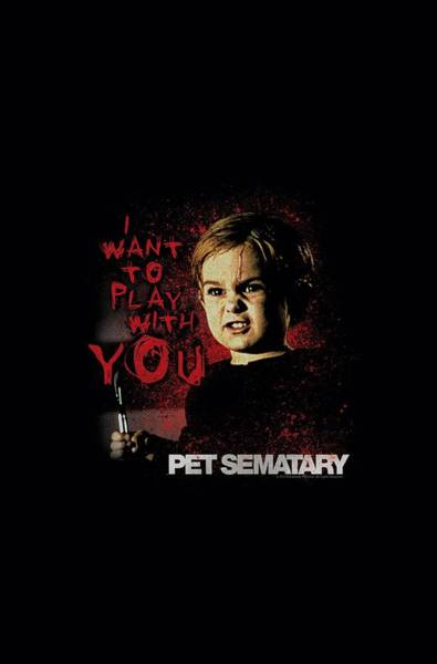 Cemetery Digital Art - Pet Sematary - I Want To Play by Brand A