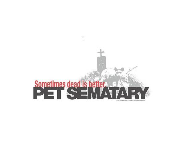 Cemetery Digital Art - Pet Sematary - Logo by Brand A