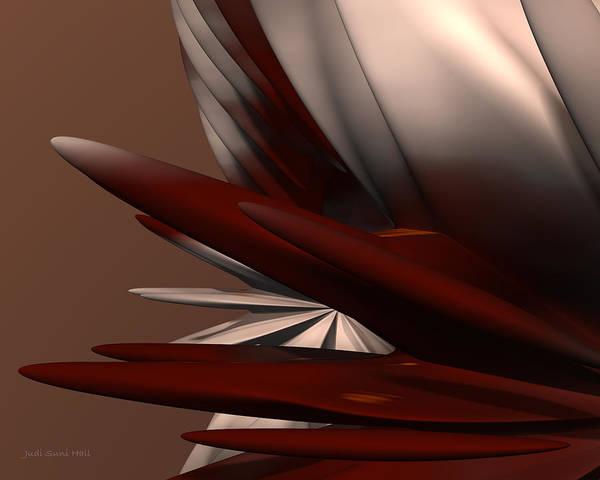 Digital Art - Petals And Stone 2 by Judi Suni Hall