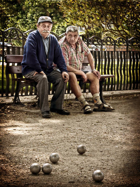 Photograph - Petanque Match / Brive La Gaillarde by Barry O Carroll