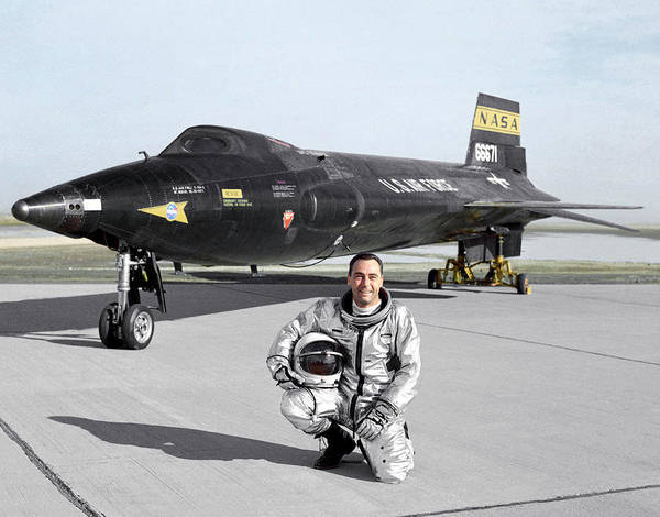 Airbase Photograph - Pete Knight As X-15 Test Pilot by Nasa
