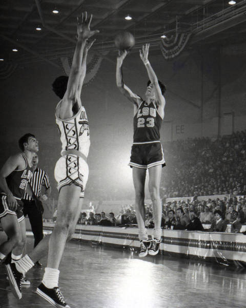 Wall Art - Photograph - Pete Maravich Jump Shot by Retro Images Archive