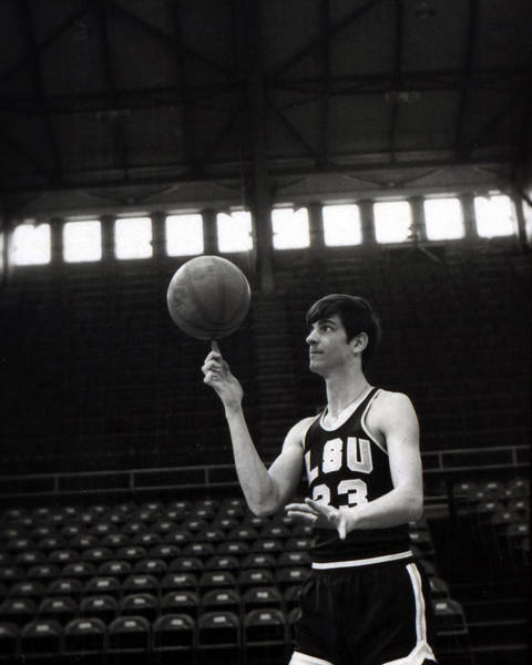 Wall Art - Photograph - Pete Maravich Spinning Ball On Finger by Retro Images Archive