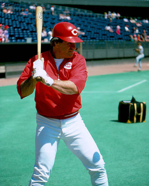 Old Montreal Photograph - Pete Rose Warming Up by Retro Images Archive