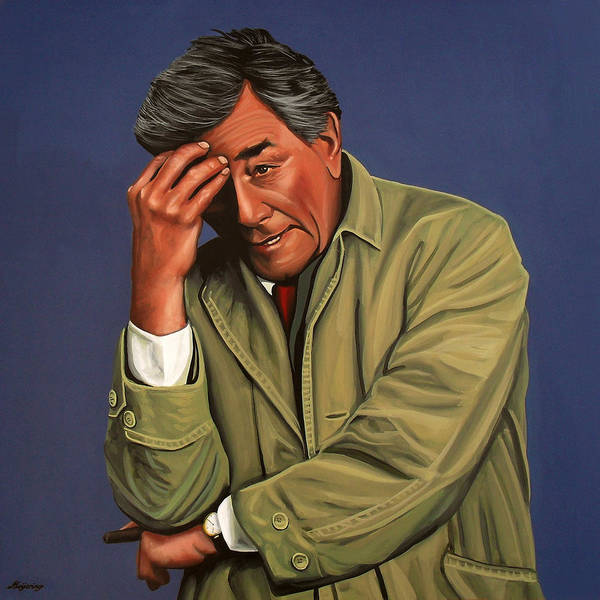 Film Painting - Peter Falk As Columbo by Paul Meijering