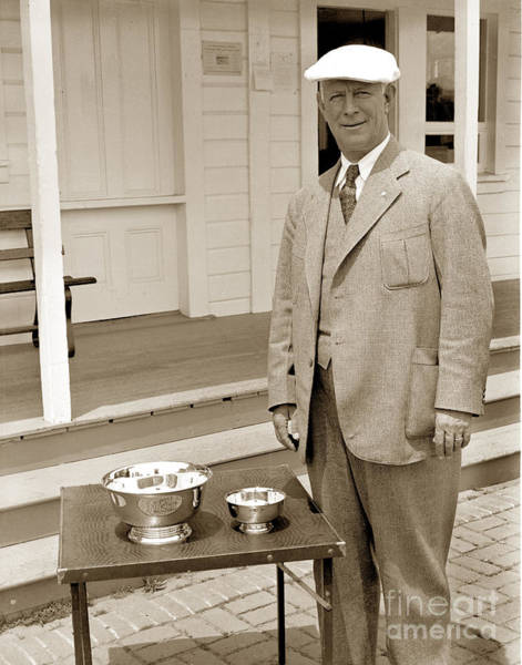 Photograph - Peter Hay Golfer Pebble Beach Circa 1950 by California Views Archives Mr Pat Hathaway Archives