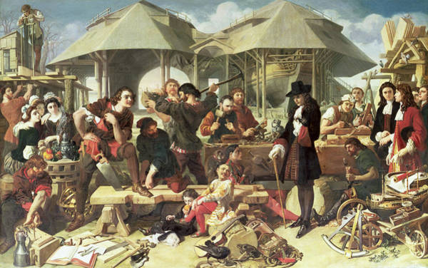 Construction Painting - Peter I, The Great At Deptford by Daniel Maclise