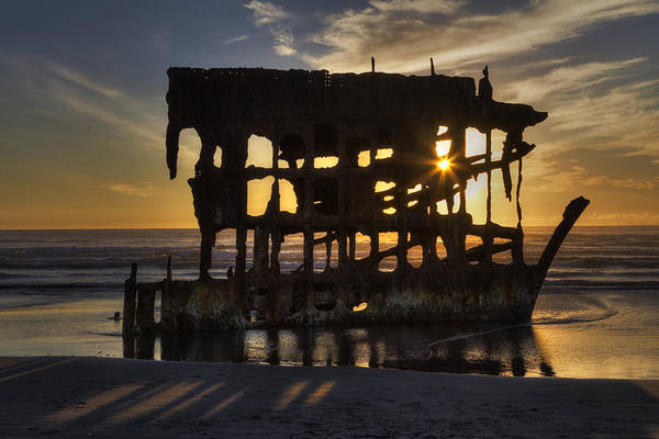 Photograph - Peter Iredale Shipwreck Sunset by Mark Kiver