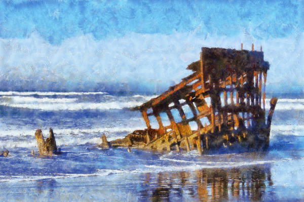 Shipwreck Digital Art - Peter Iredale Wreck by Kaylee Mason