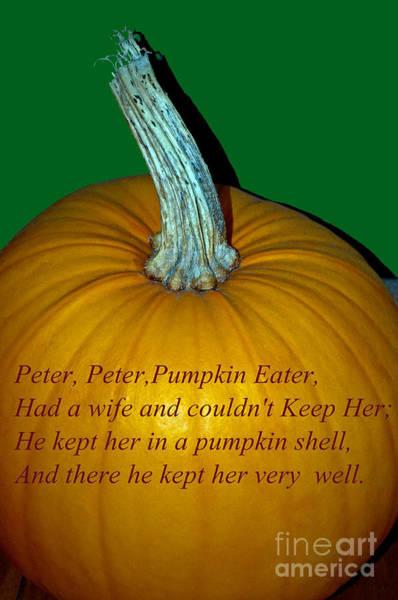 Photograph - Peter Peter Pumpkin Eater by Tikvah's Hope