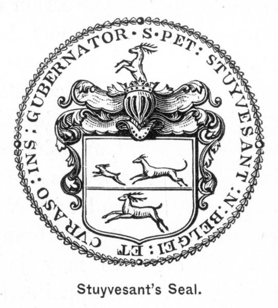 Painting - Peter Stuyvesant's Seal by Granger