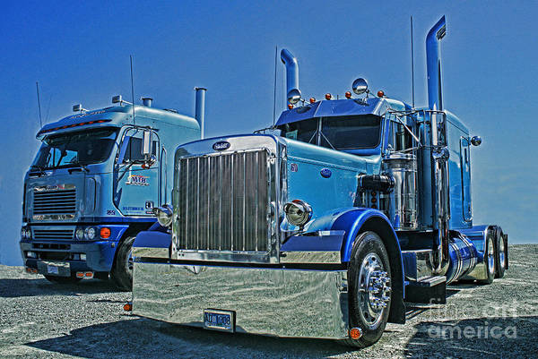 Wall Art - Photograph - Peterbilt And Frieghtliner by Randy Harris
