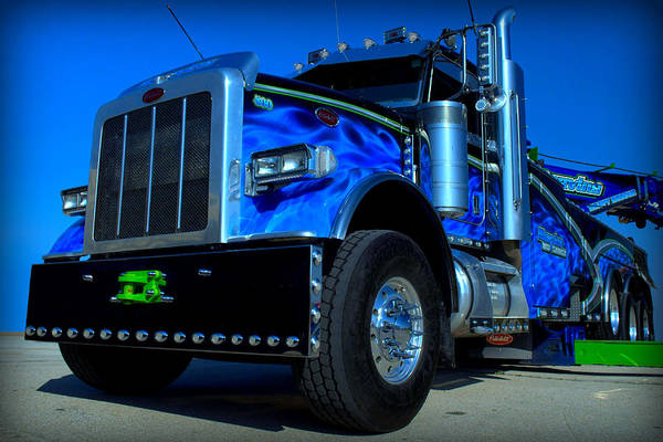 Photograph - Marvins Peterbilt Big Rig Tow Truck by Tim McCullough
