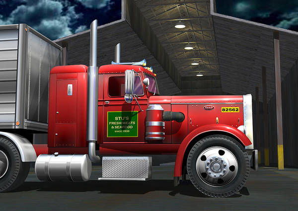 Wall Art - Digital Art - Peterbilt Truck by Stuart Swartz