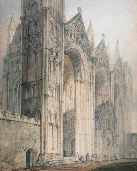 Facade Painting - Peterborough Cathedral by Thomas Girtin