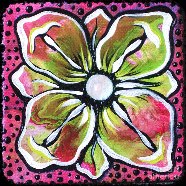 Lime Painting - Petit Flower by Shadia Derbyshire