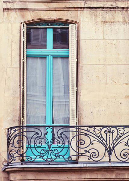 Windows Wall Art - Photograph - Petit - Parisian Balcony  by Melanie Alexandra Price