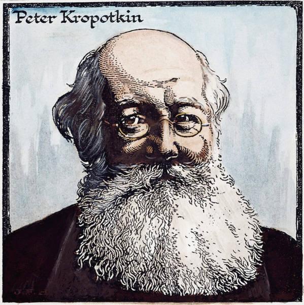 Bolshevik Painting - Petr Alekseevich Kropotkin (1842-1921) by Granger