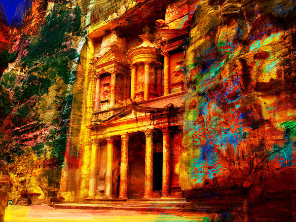 Er Wall Art - Painting - Petra by Catf