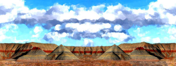 Pikes Peak Painting - Petrified Arizona Panorama by Bruce Nutting