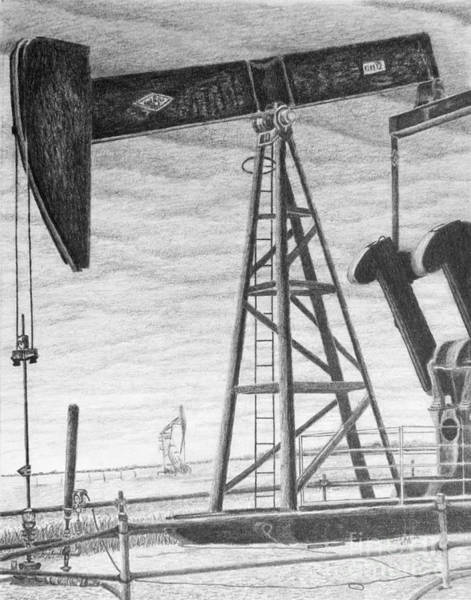 Petroleum Drawing - Petro by Chad Keith