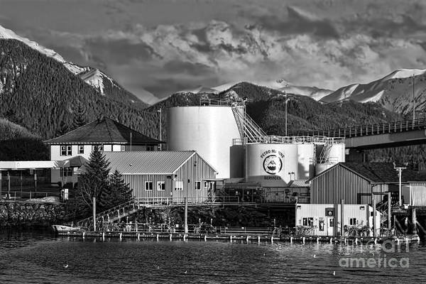 Wall Art - Photograph - Petro Marine In Sitka Alaska Bw by Scarlett Images Photography
