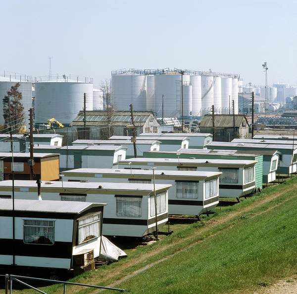 Caravan Photograph - Petrochemical Installation by Robert Brook/science Photo Library
