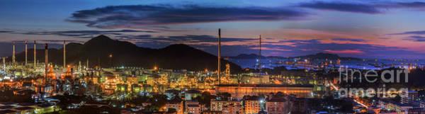 Wall Art - Photograph - Petrochemical Plant And Logistic Port by Anek Suwannaphoom