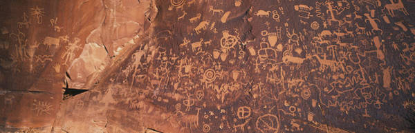 Petroglyph Photograph - Petroglyphs On Newspaper Rock, Utah by Panoramic Images