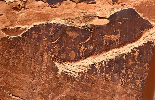 Photograph - Petroglyphs Or Rock Art In Utah by Jean Clark