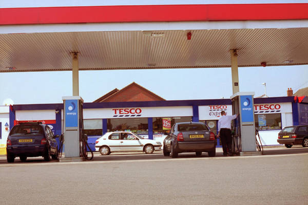 Wall Art - Photograph - Petrol Station Forecourt by Robert Brook/science Photo Library