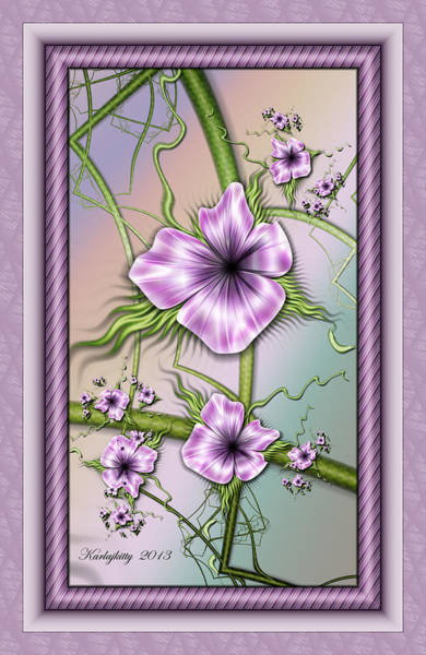 Digital Art - Petunias by Karla White