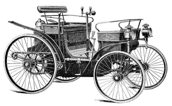 1894 Photograph - Peugeot Phaeton Automobile by Science Photo Library
