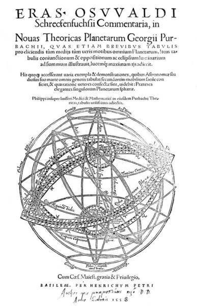 Title Page Wall Art - Photograph - Peurbach's Planetary Theories by Royal Astronomical Society/science Photo Library