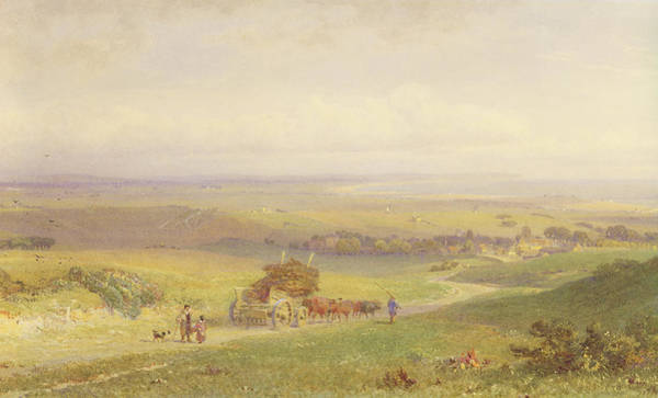 English Countryside Photograph - Pevensey Bay, Sussex, 1868 Wc, Bc, Graphite And Scraping On Paper by Henry George Hine